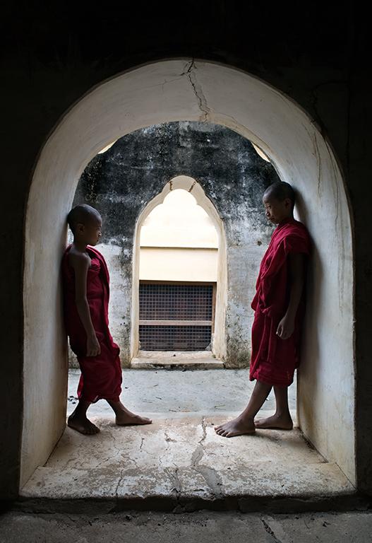Young monk dispels