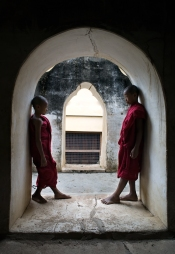 Young monks in Bagan