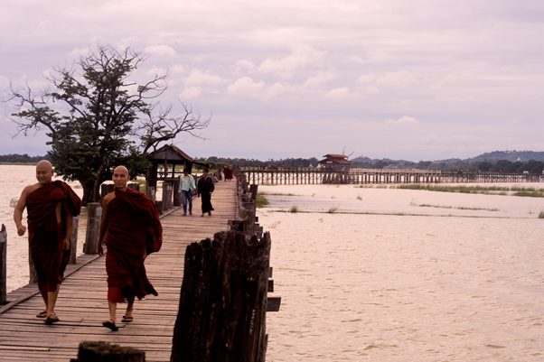 U-Bein Bridge in Amarpurna Burma