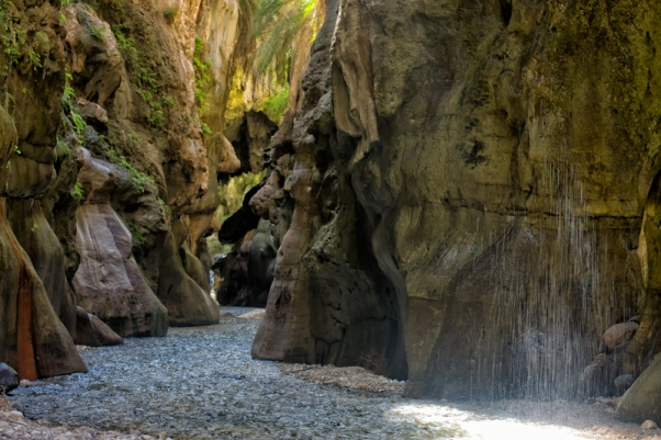 Small waterfall in Wadi Ibn Hammad
