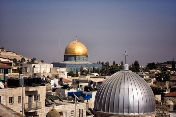 View from the roof of Austrian Hospice in Old City of Jerusalem