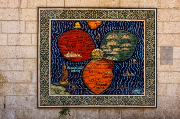 Map in Western Jerusalem