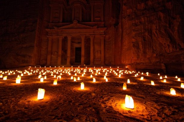 The Treasury in the Petra by night show