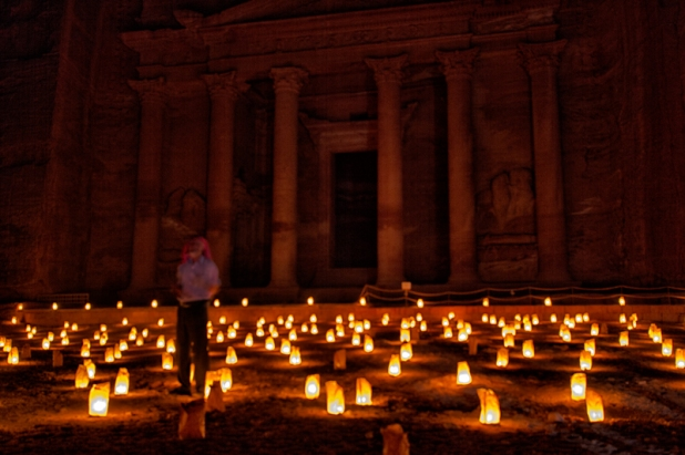 The Treasury in the Petra by night show 2