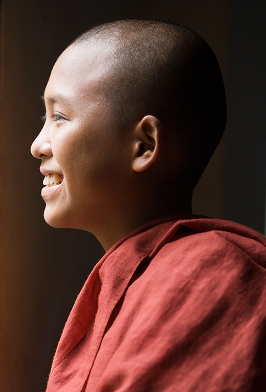 Young monk in Yangon