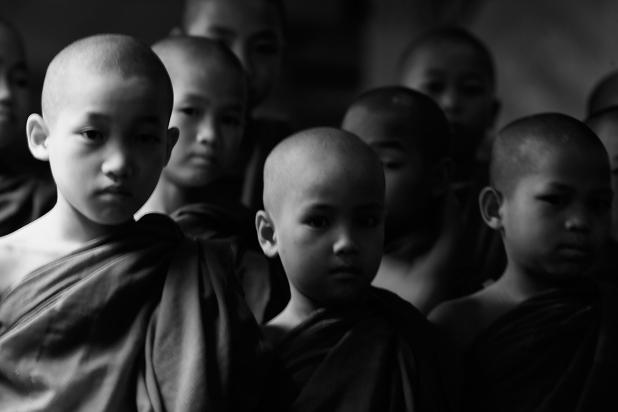 Monks in Yangon