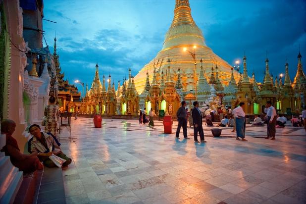 Schedagon in Yangon