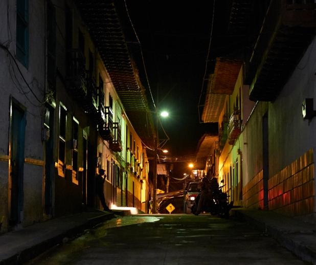 Man in the dark night Salamina