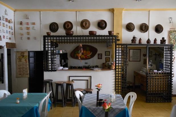 Interior in Tierra Paisa restaurant
