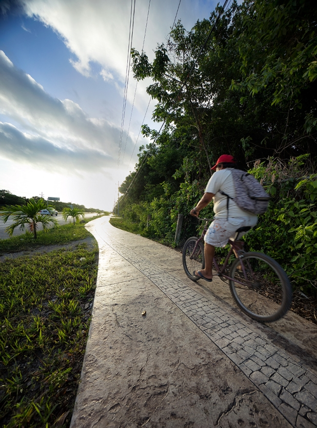 Cycling in Tulum Mexico