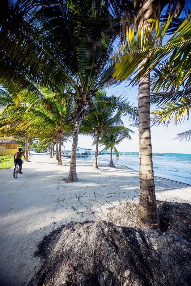 Cycling in Caye Caulker