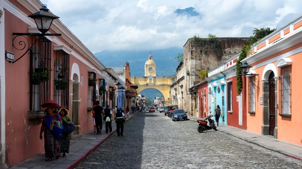 El Arco towards the volcano