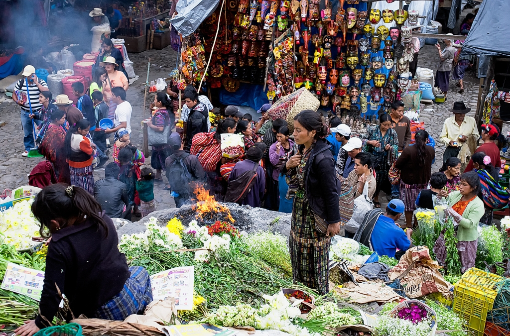 Market day at Chichicastenango