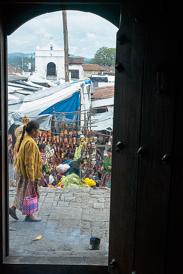 Chichicastenango market day view from the church