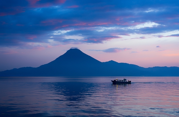 Sunset at Lake Atitlán