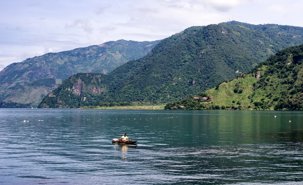 Fisherman on Lake Atitlán