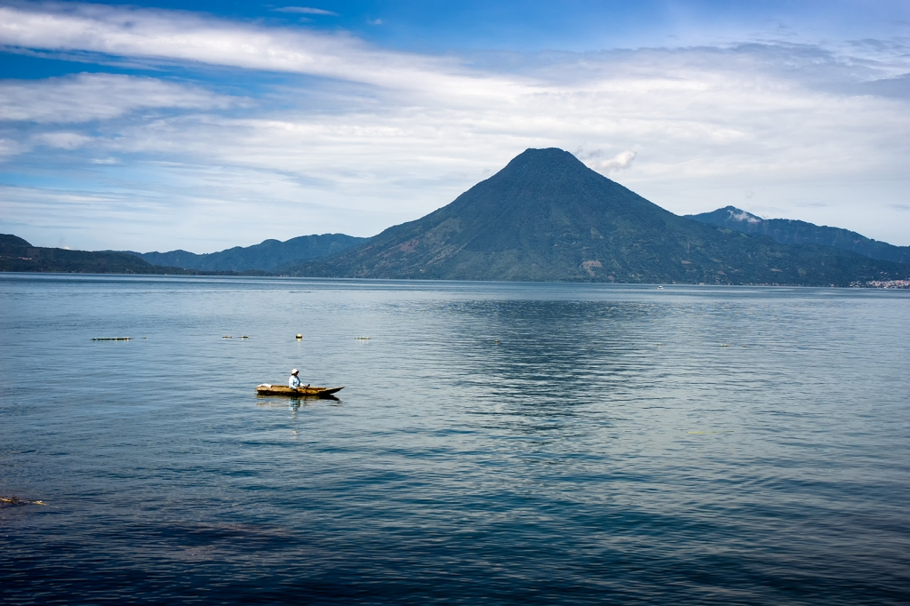 Fishing on Lake Atitlán