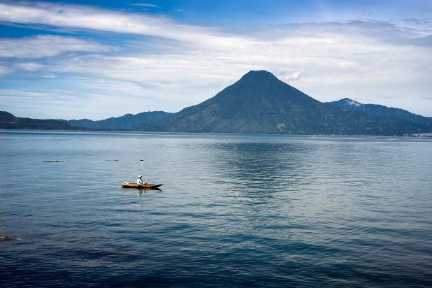 Fishing on Lake Atitlán